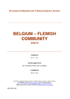 Belgium - Flemish Community : Structures of Education and Training Systems in Europe - application/pdf